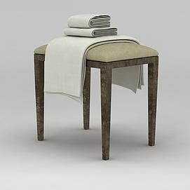 浴巾毛巾模型