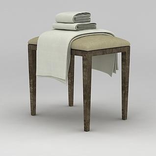 浴巾毛巾3d模型