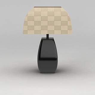 高档简约台灯3d模型