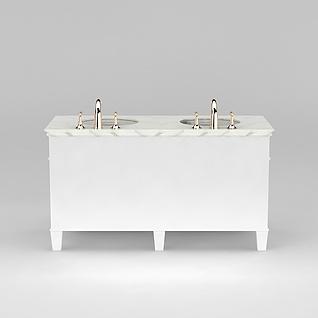 浴室双台盆3d模型