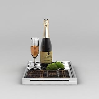 香槟酒3d模型3d模型