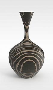 3d個性花紋花瓶模型