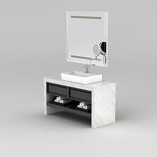 大理石浴室柜3d模型