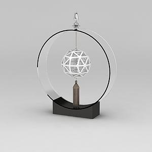 中式客廳工藝擺件模型3d模型