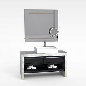 大理石浴室柜模型