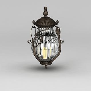 欧式庭院灯3d模型