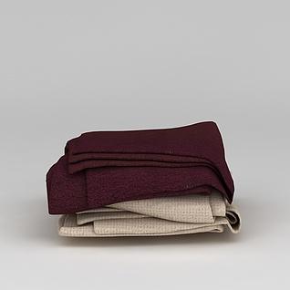 生活用品毯子3d模型