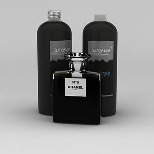 香奈儿6号香水3d模型