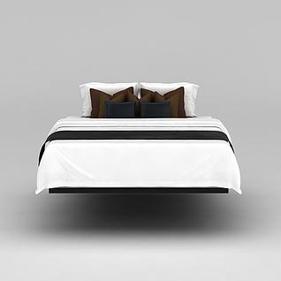 高档酒店寝具3d模型
