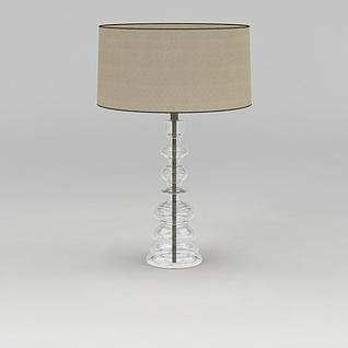 简约玻璃台灯3d模型