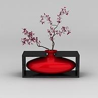 中式风格艺术花瓶3D模型3d模型