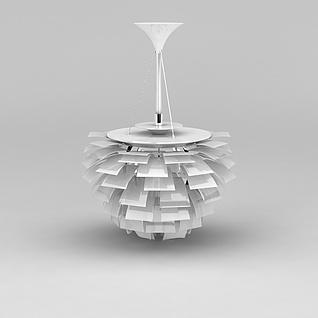 个性仿纸片吊灯3d模型3d模型