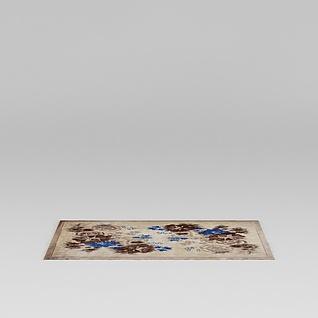 印花地毯3d模型