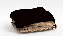 生活用品毯子模型