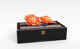 中式珠宝收纳盒3d模型