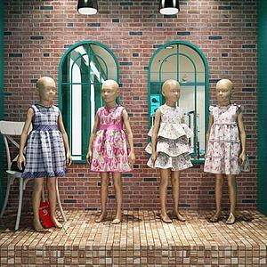 儿童服装精品厨窗模特模型