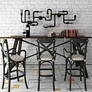 工业风吧台桌椅模型
