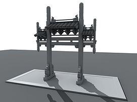 中国古代<font class='myIsRed'>牌坊</font>3d模型