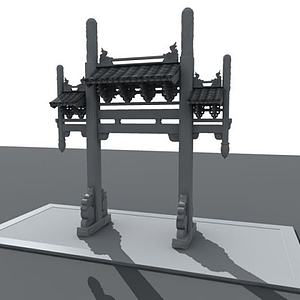 3d中國古代<font class='myIsRed'>牌坊</font>模型
