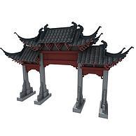古建牌楼3D模型3d模型