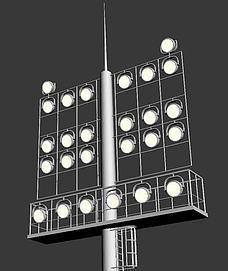 室外场馆照明灯模型