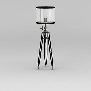 铁艺支架落地灯3d模型