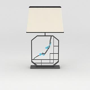 中式风格台灯3d模型