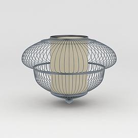 铁艺灯笼灯饰模型