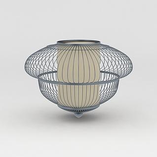 铁艺灯笼灯饰3d模型