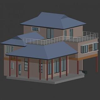 独栋小别墅3d模型