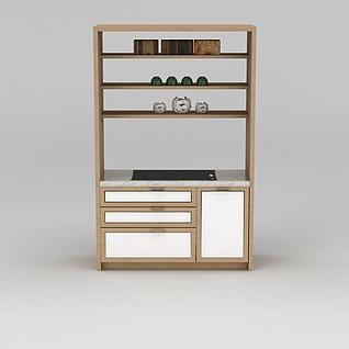 厨房碗柜3d模型3d模型