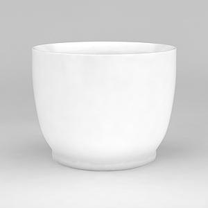 3d白色陶瓷<font class='myIsRed'>花盆</font>模型