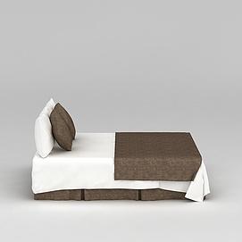 酒店简约床3d模型