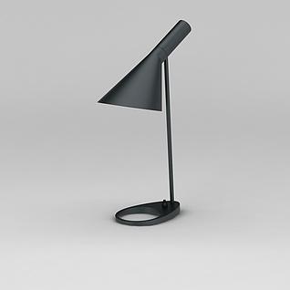 简约黑色书房台灯3d模型