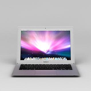 苹果超薄笔记本3d模型3d模型