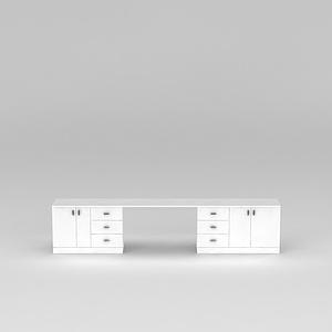 3d白色?#30340;?#20070;房<font class='myIsRed'>办公桌</font>模型