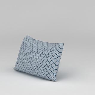 蓝色枕头3d模型