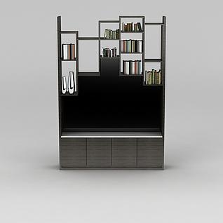 实木书架3d模型3d模型