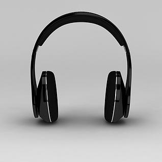 头戴式耳机3d模型3d模型