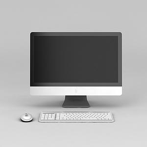 3d苹果办公<font class='myIsRed'>电脑</font>模型