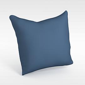 蓝色?#23478;?#25265;枕模型