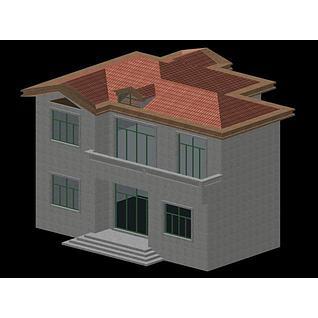 简易别墅3d模型3d模型