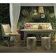 欧式庭院桌椅植物装饰墙3D模型3d模型