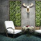 休闲椅茶几植物墙组合模型