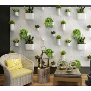 植物装饰墙3d模型
