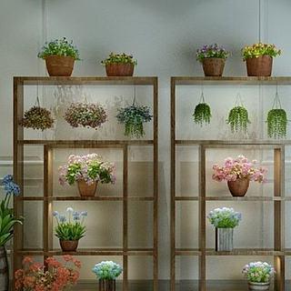 花架植物<font class='myIsRed'>花盆</font>3d模型