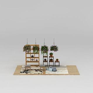 花架植物盆栽3d模型3d模型