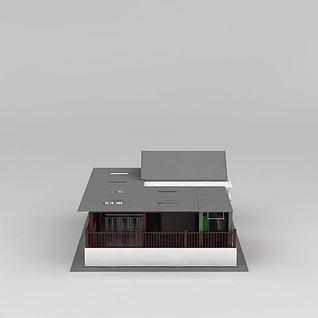天台屋顶面3d模型