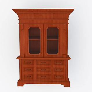 美式柜子3d模型