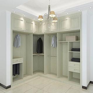 室内转角衣柜3d模型